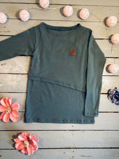Kojící tričko Ocean (dlouhý rukáv) - Jako máma
