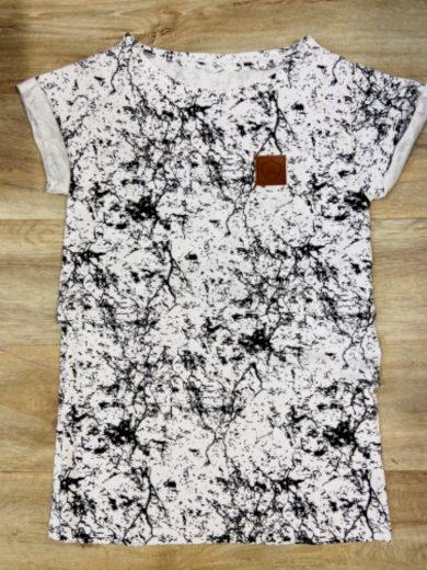 Kojící tričko Art White (krátký rukáv) - Jako máma