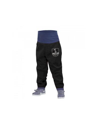 Batolecí softshellové kalhoty bez zateplení, černá - Unuo