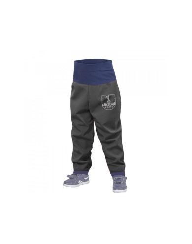 Batolecí softshellové kalhoty bez zateplení, tm. šedá - Unuo