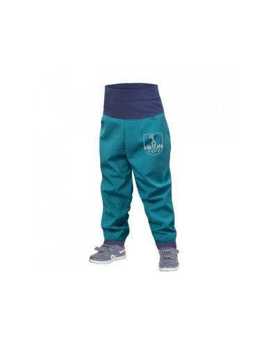 Batolecí softshellové kalhoty bez zateplení, smaragdová - Unuo