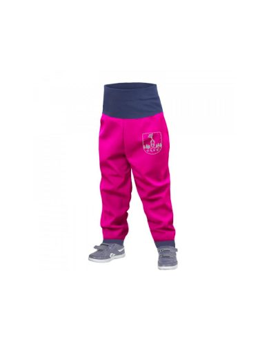 Batolecí softshellové kalhoty bez zateplení, fuchsiová - Unuo