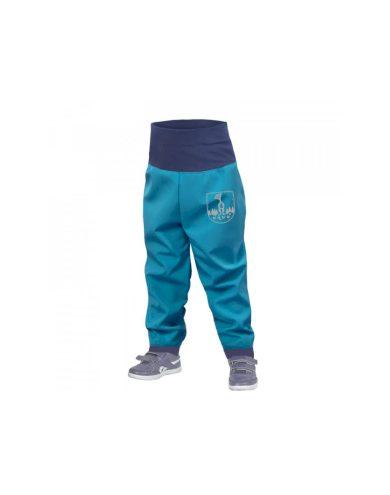 Batolecí softshellové kalhoty bez zateplení, modrozelená aqua - Unuo