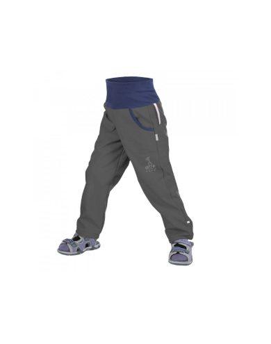 Dětské softshellové kalhoty bez zateplení, tm. šedá - Unuo