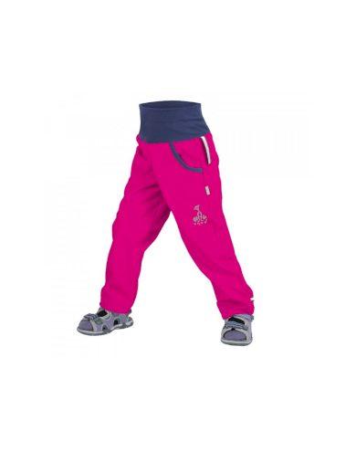 Dětské softshellové kalhoty bez zateplení, fuchsiová - Unuo