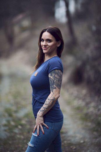 Kojící tričko Jeans (krátký rukáv) - Jako máma