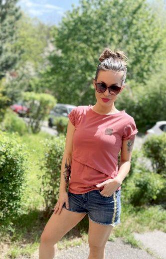 Kojící tričko Cedar (krátký rukáv) - Jako máma
