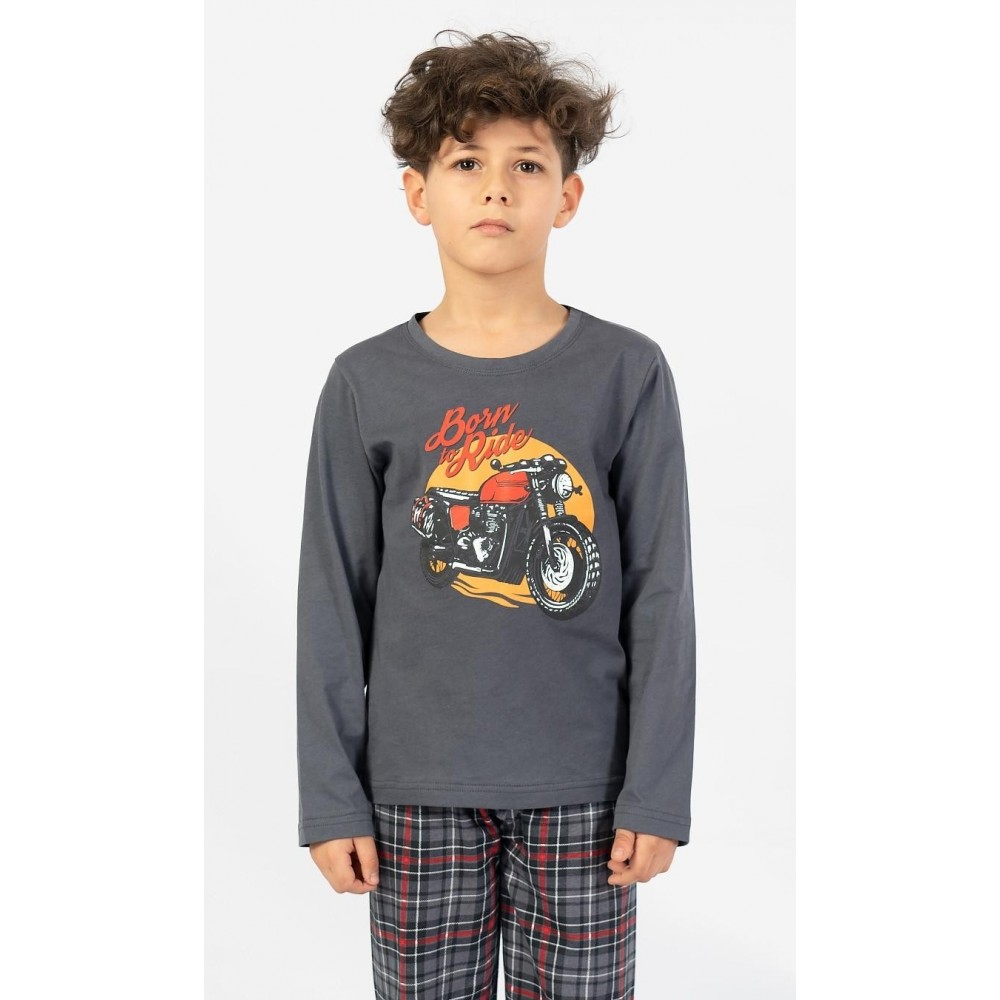 Dětské pyžamo dlouhé Motorka