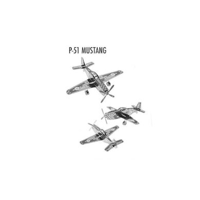 3D ocelová skládačka stíhačka P-51 Mustang
