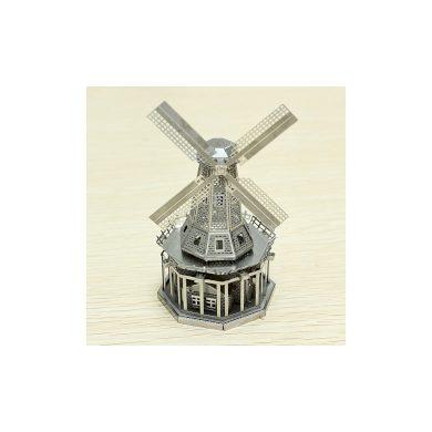 3D ocelová skládačka Větrný mlýn