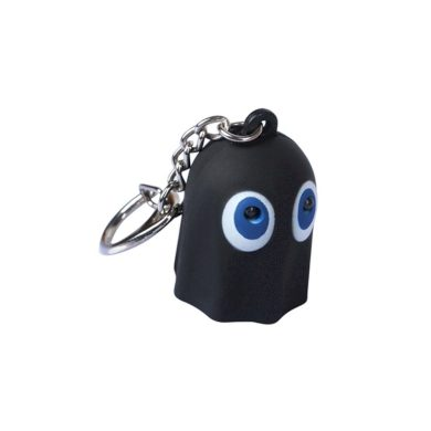 Pac-man strašidýlko LED přívěšek na klíče se zvukem