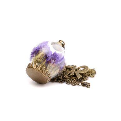 Květ v lahvi - Přívěšek na krk