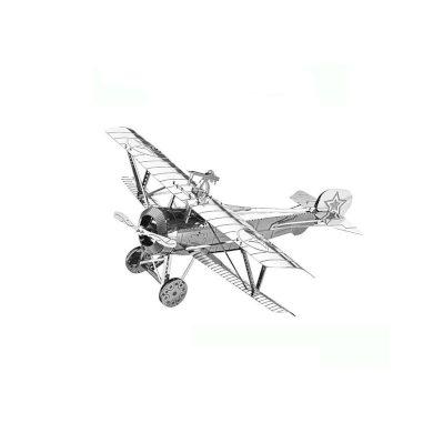 3D ocelová skládačka letadlo dvouplošník Nieuport 17
