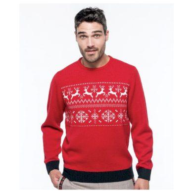 Vánoční svetr s motivem sobů