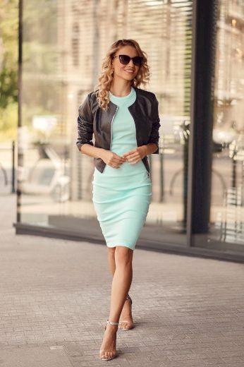 Fantastické, jednoduché šaty s krátkými rukávy, zelené: UNIWA