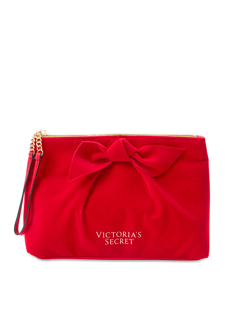 Victoria's Secret kosmetická taška na zip / červená