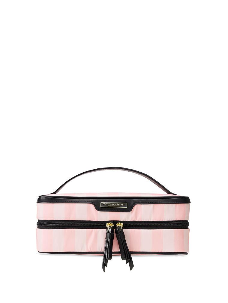Victoria's Secret kosmetický kufřík / Signature Stripe