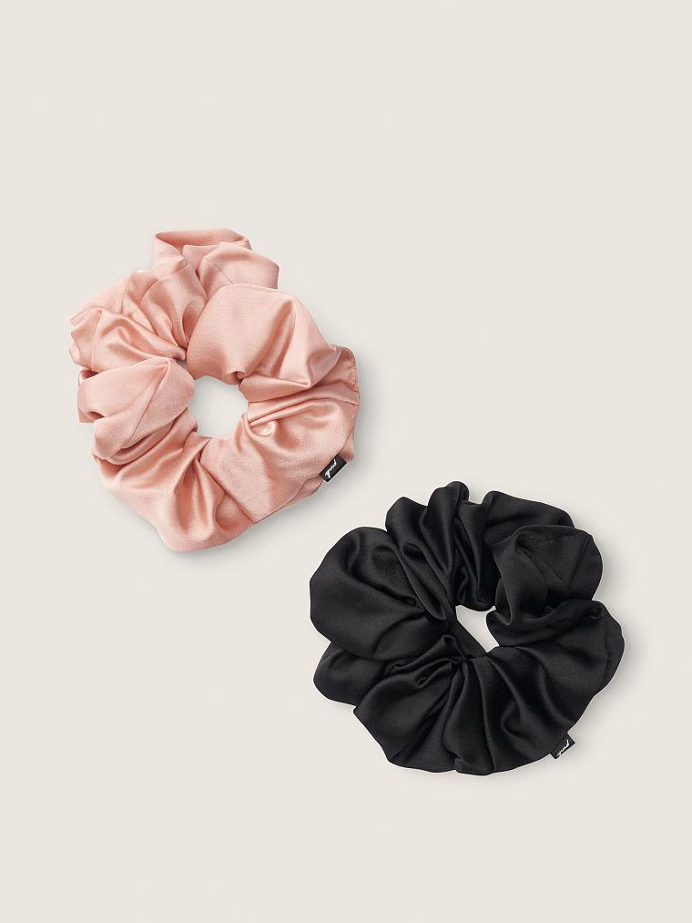 Victoria's Secret 2ks gumiček do vlasů / černá růžová