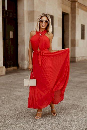 Dámské šaty plisováné ELLA / Červená