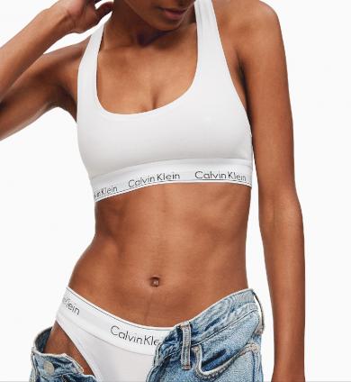 Podprsenka Calvin Klein bralette modern cotton bílá