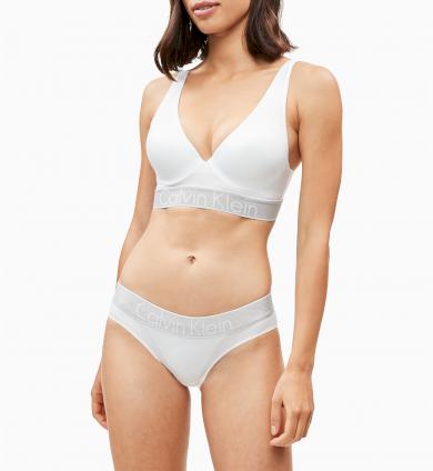 Dámská sportovní podprsenka Calvin Klein push-up Customized Stretch bílá