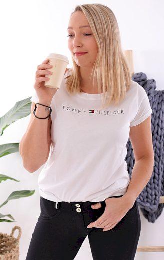 Tommy Hilfiger dámské tričko / bílé Ikonic