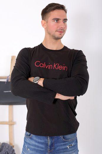 Calvin Klein pánské tričko s dlouhým rukávem Comfort Cotton - Černá