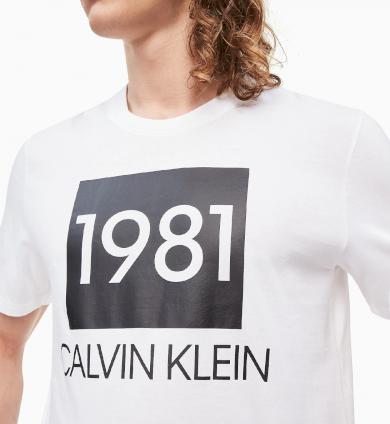 Calvin Klein Tričko BOLD 1981 - bílá
