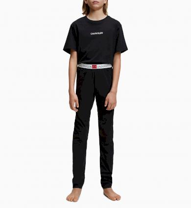 Chlapecké pyžamo Calvin Klein - Minigram černé
