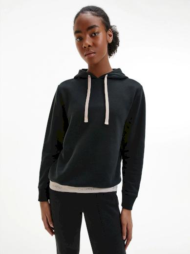Calvin Klein dámská mikina s kapucí MODERN COTTON / černá