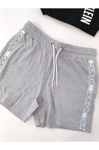 Calvin Klein pánské kraťasy s bílým pruhem / šedé