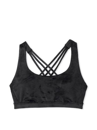 Victoria's Secret velourová podprsenka / černá