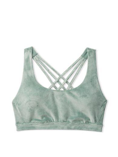 Victoria's Secret velourová podprsenka / zelená