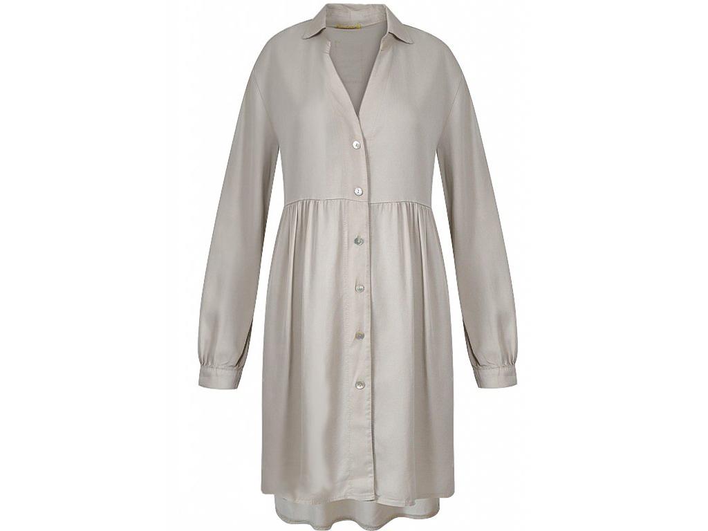 CHIARA dámská košilová tunika béžová