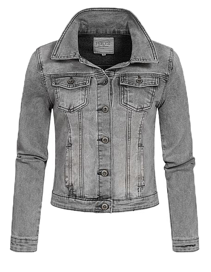 Hailys dámská jeans bunda Enny světle šedá