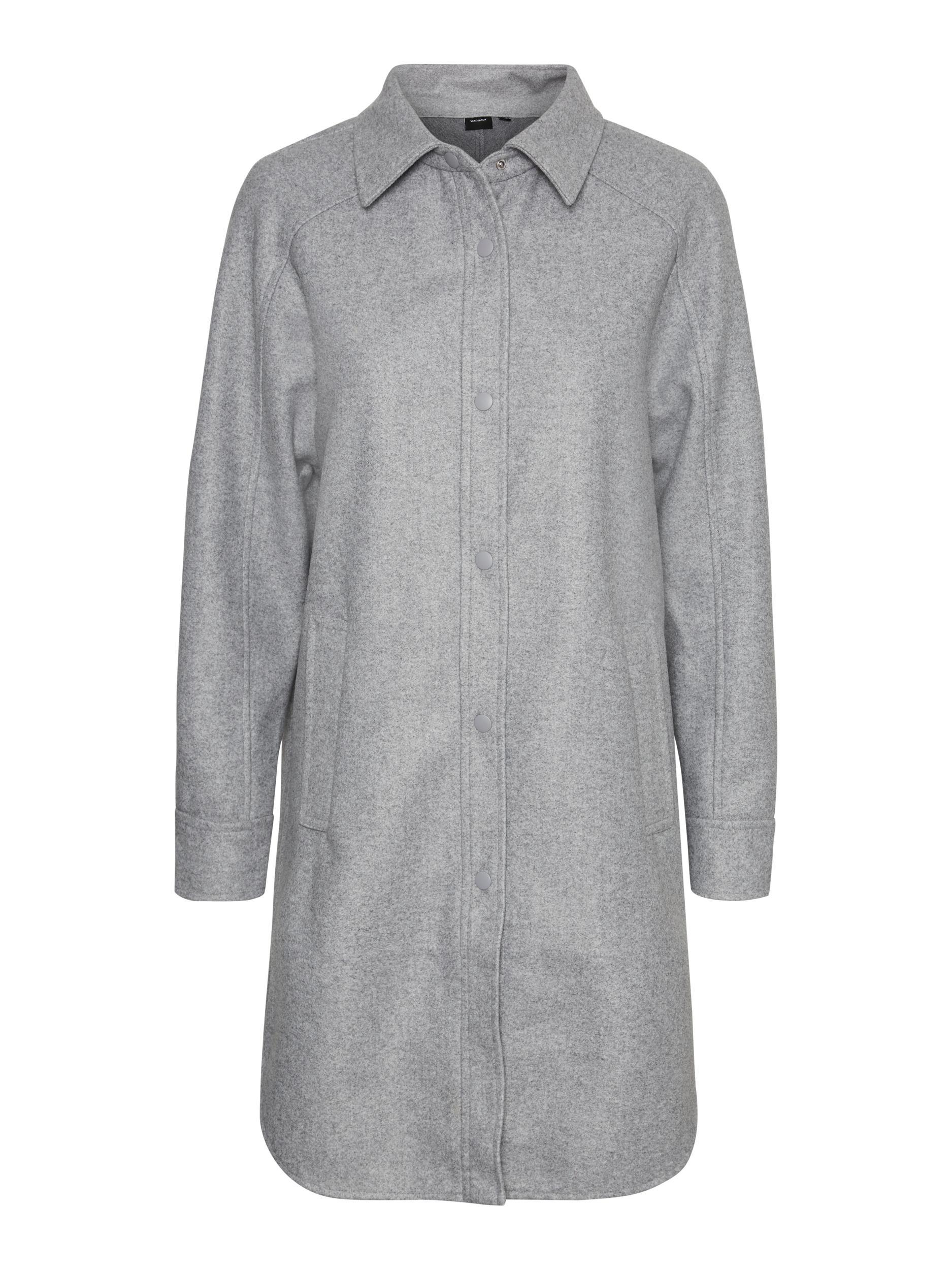 Vero Moda dámský lehký flaušový kabát Fortune Lola šedý