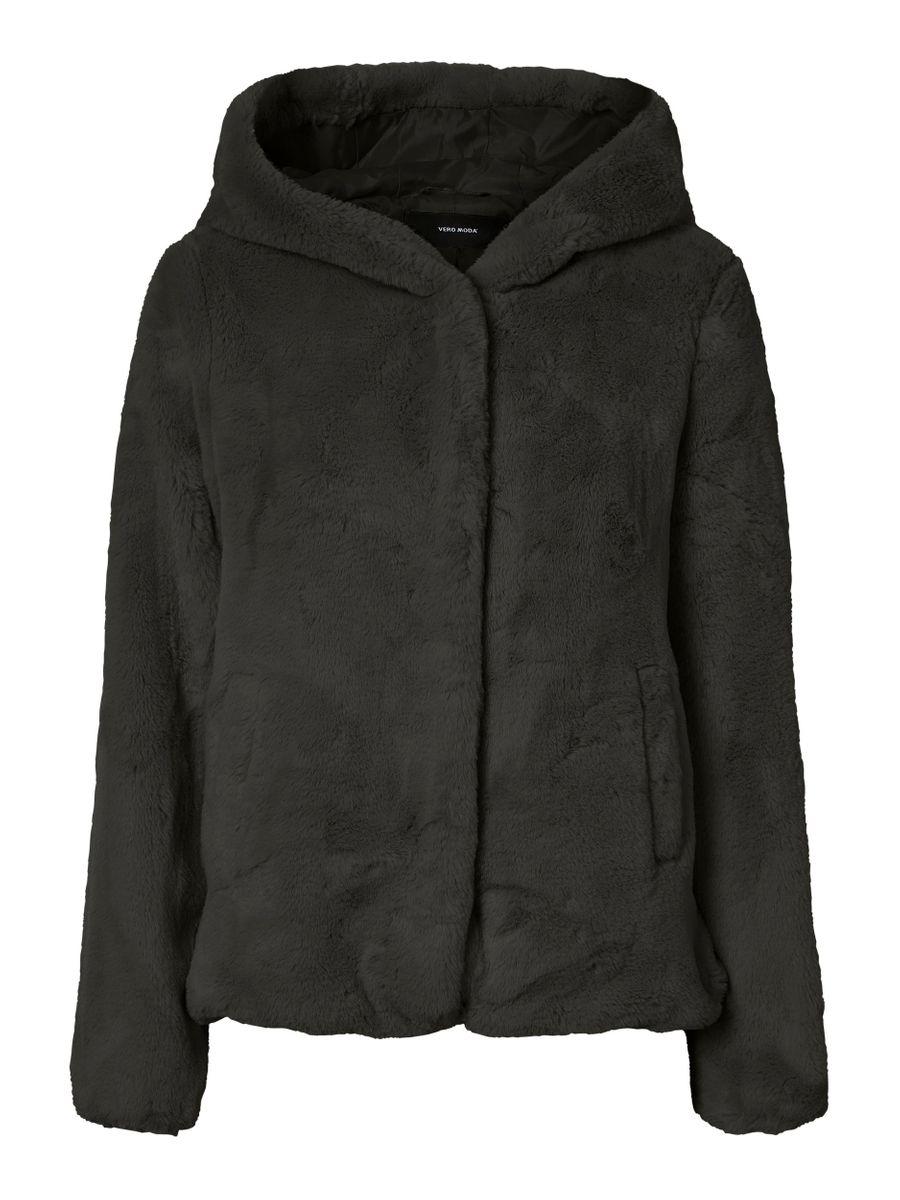 Vero Moda dámský kožešinový kabátek Iben černý