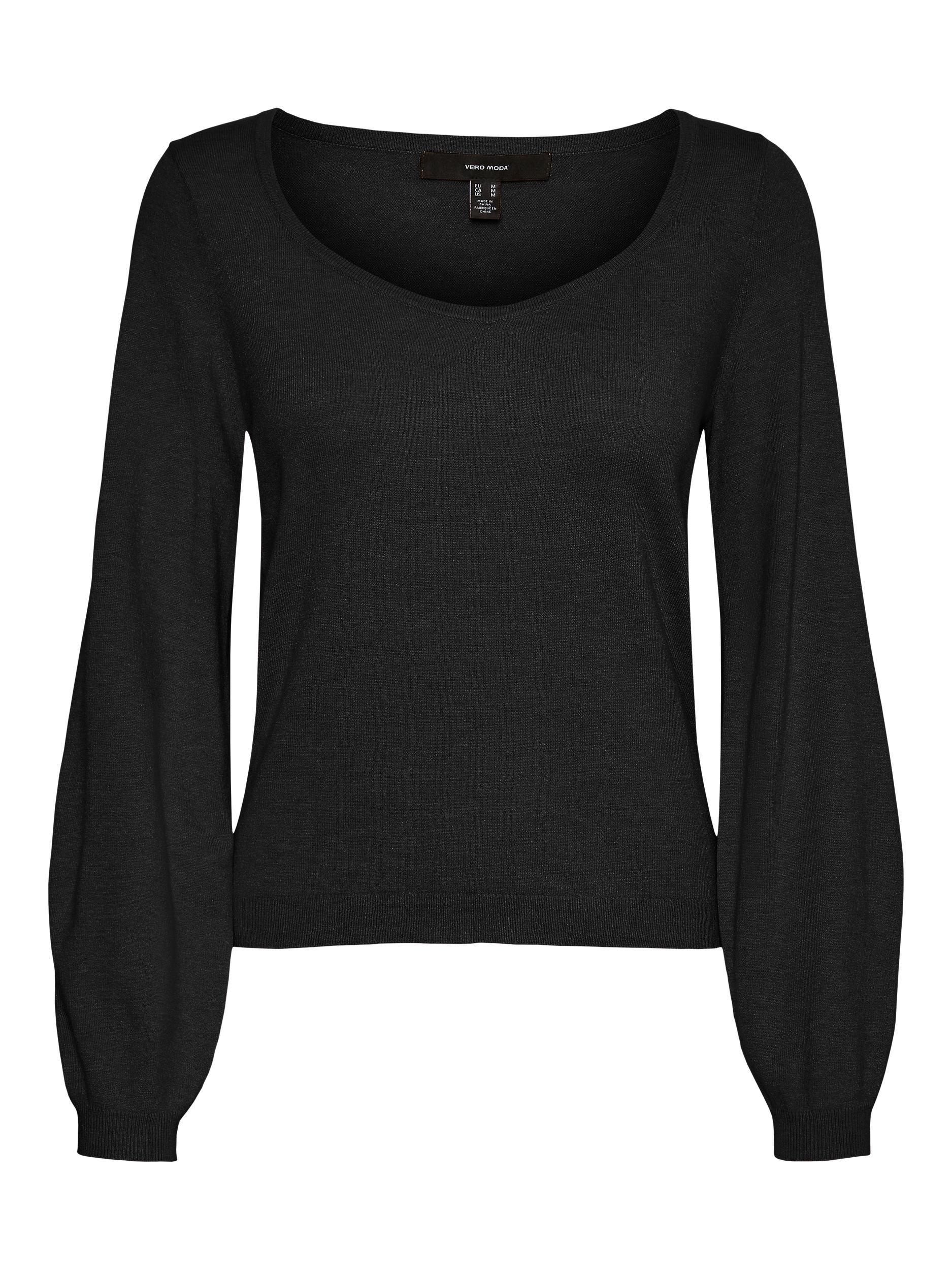 Vero Moda dámský lehký pletený svetřík Karma černý