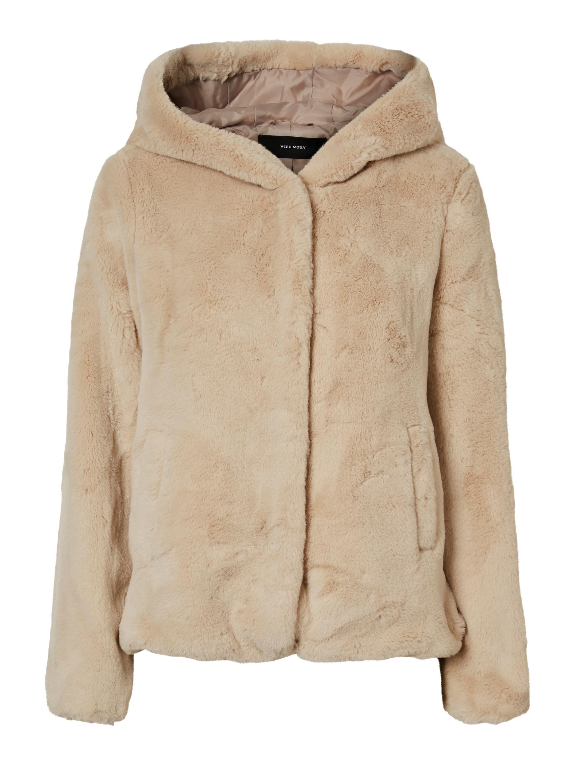 Vero Moda dámský kožešinový kabátek Iben béžový