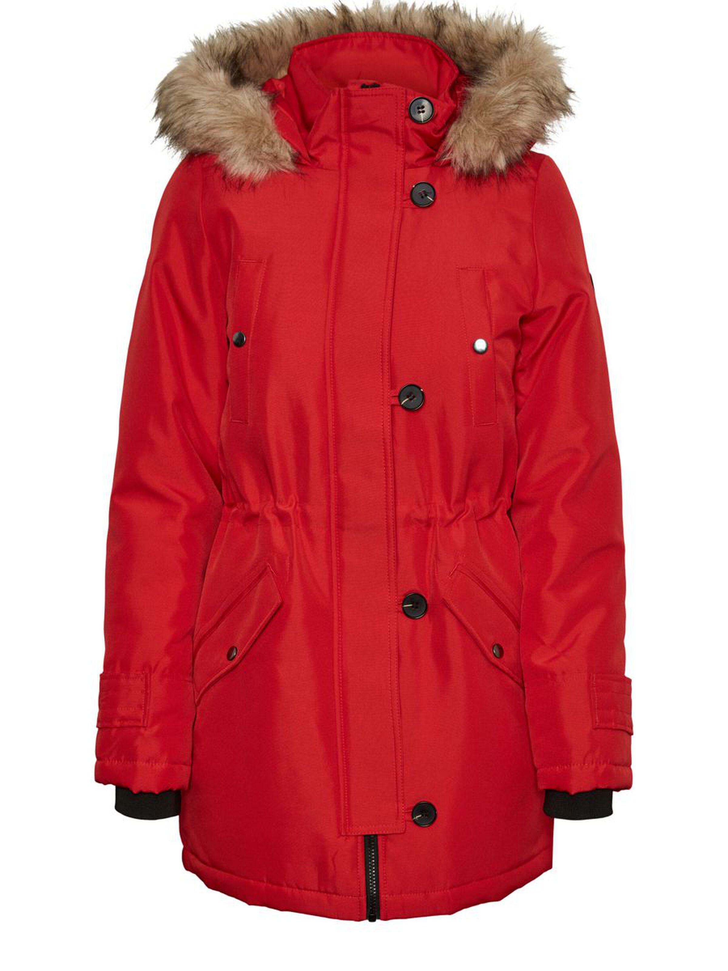 Vero Moda dámská zimní parka Excursion červená