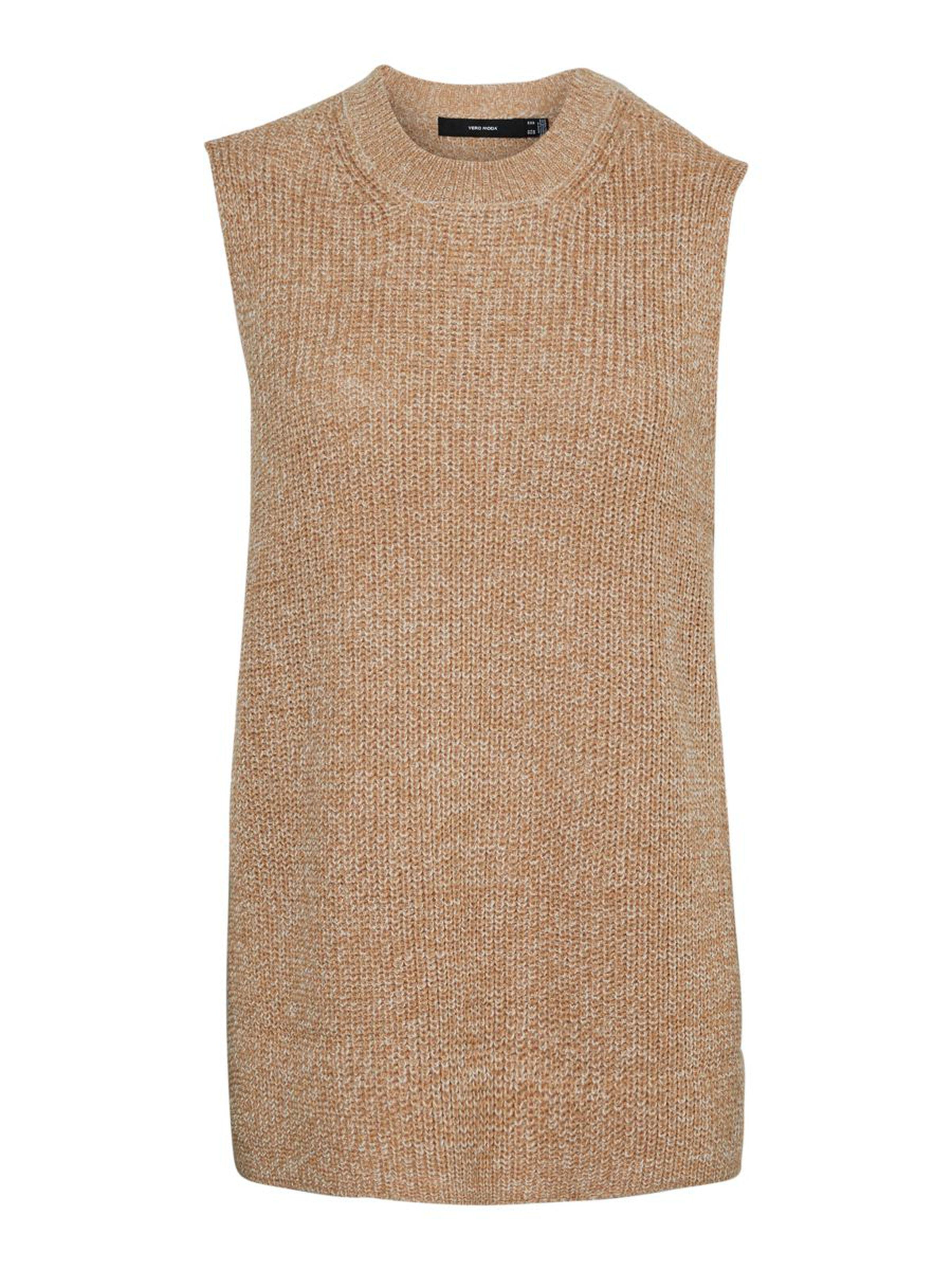 Vero Moda dámská pletená vesta Lea béžová