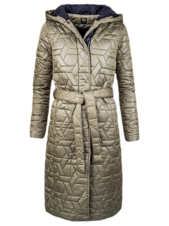 Funk'n'Soul dámský lehký kabát s kapucí olivový