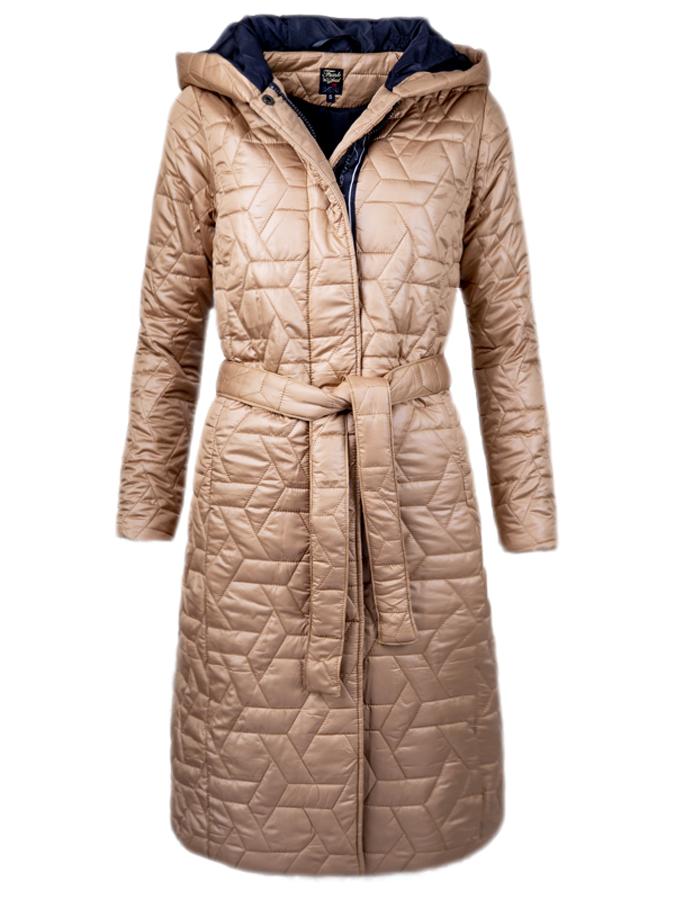 Funk'n'Soul dámský lehký kabát s kapucí béžový