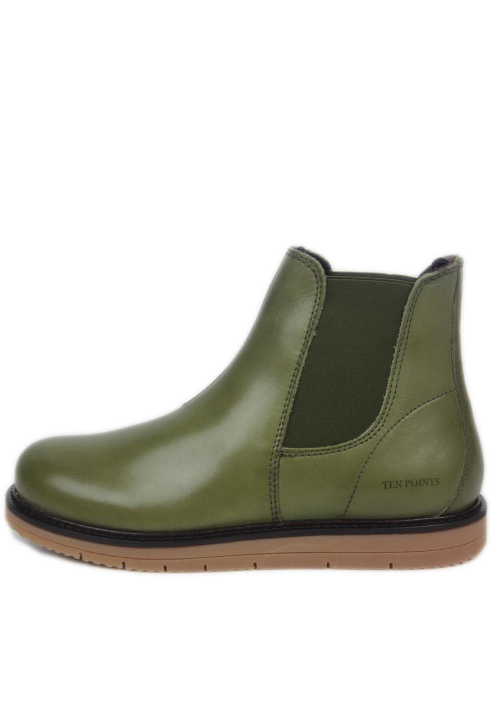 Ten points dámské kotníkové boty Carina 388 005 zelené