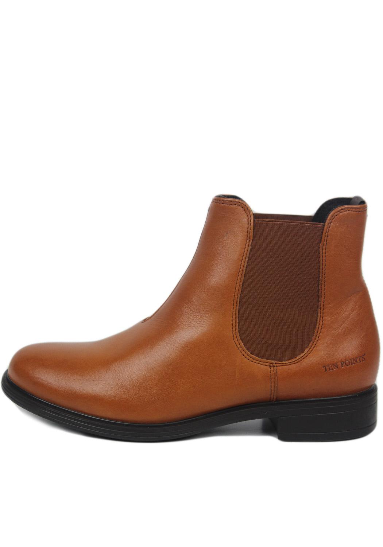 Ten points dámské kotníkové boty Dakota cognac