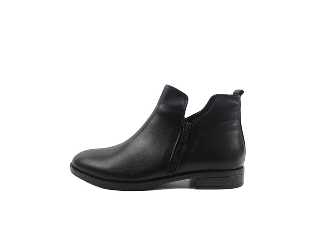 Pass dámské kotníkové boty na zip C591105 01 black