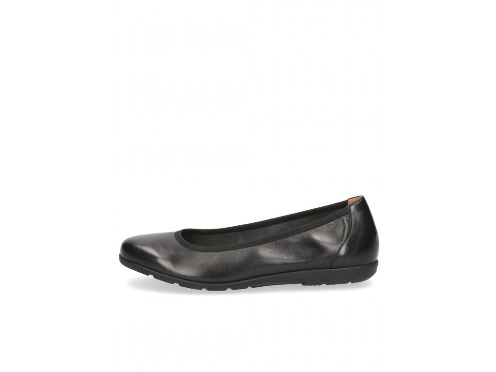Caprice dámské kožené baleríny 9-22150-26 black nappa