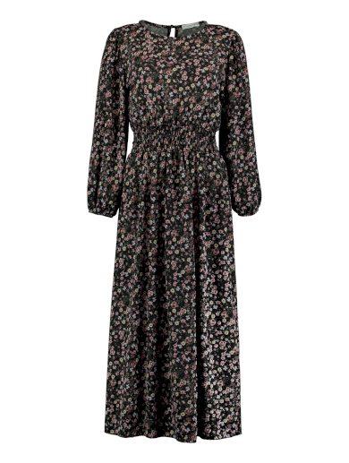 Hailys dámské šaty Anny černé květované