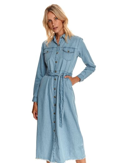Top Secret dámské džínové midi šaty modré