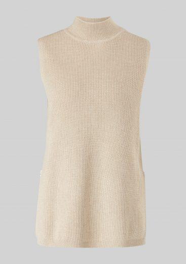 s.Oliver dámská pletená vesta se zipy béžová